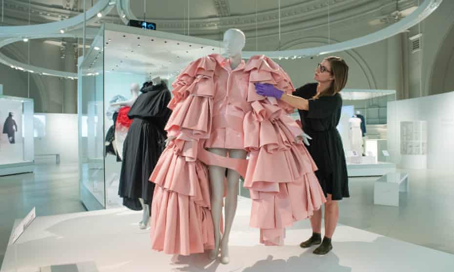 'A kind of lustful madness sets in': one of the dresses in the Balenciaga: Shaping Fashion show