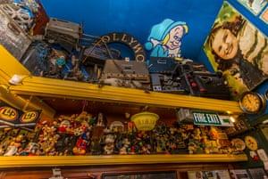 John Bell, 74, has amassed shelves of movie memorabilia.