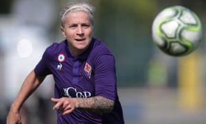 Fiorentina, whose forward Lana Clelland is pictured here, are among the leading clubs in women's Serie A.