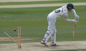 Ed Barnard is bowled by Jamie Porter as Essex beat Worcestershire to consign them to Division Two.