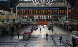 Liverpool Street Station during the coronavirus lockdown