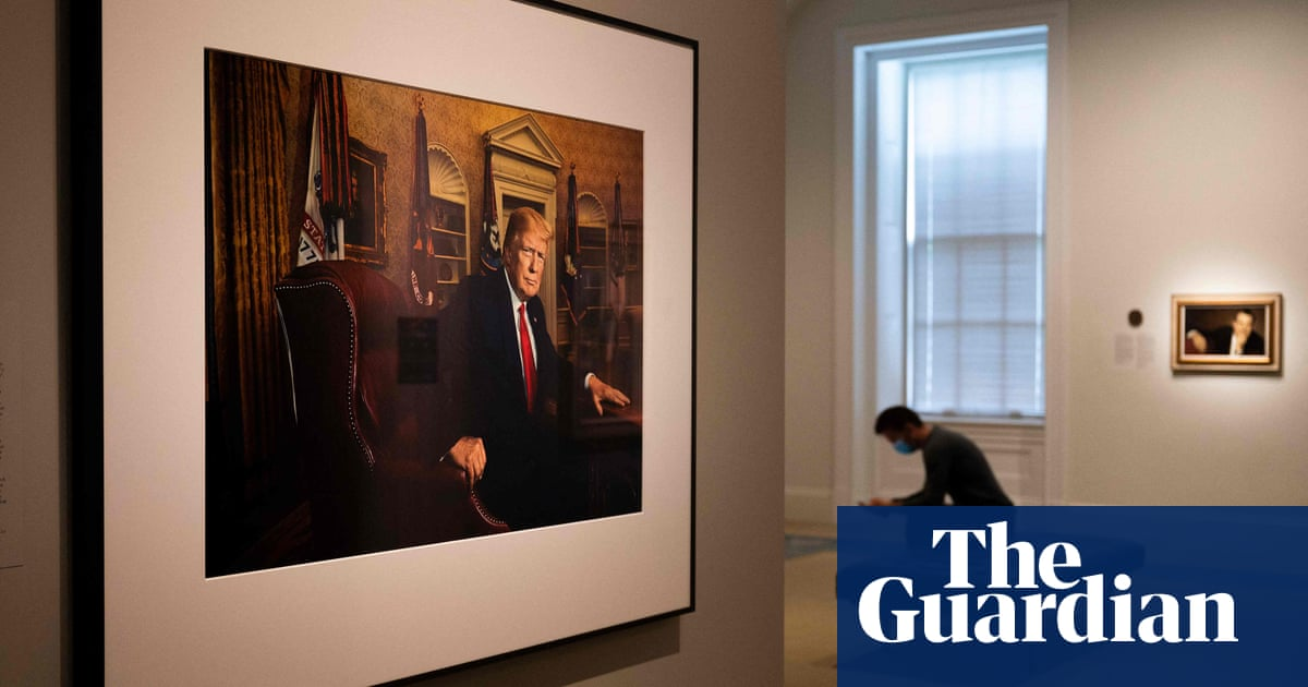 'It's hard to look at': Donald Trump makes National Portrait Gallery debut