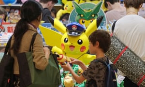 Customers visit a shop selling Pokemon goods in Tokyo.