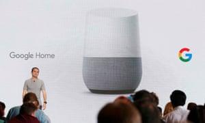 Mario Queiroz introduces the Google Home device.