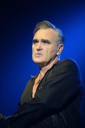 Morrissey during a concert