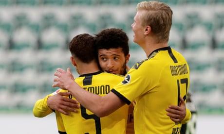 Bundesliga roundup: Jadon Sancho cameo keeps Dortmund's hopes alive