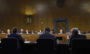 Clint Watts, left, is among those who testified before the Senate intelligence committee.