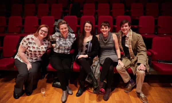 Students Kelcie O'Dell, Courtney Kusler, Jennifer Patton, Hadley McPherson and Teddy Warren at Preston Guild Hall.