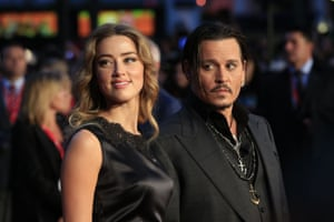 Depp with his former wife, Amber Heard, in 2015.