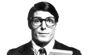 Christopher Reeve as Clark Kent, aka Superman.