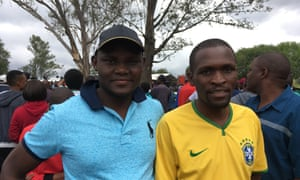 Roderick Chamisa, right: 'Any change is good.'