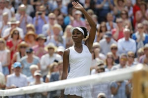 Venus Williams waves to the crowd