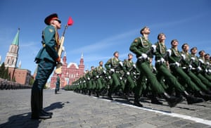 Soldiers parade in Moscow