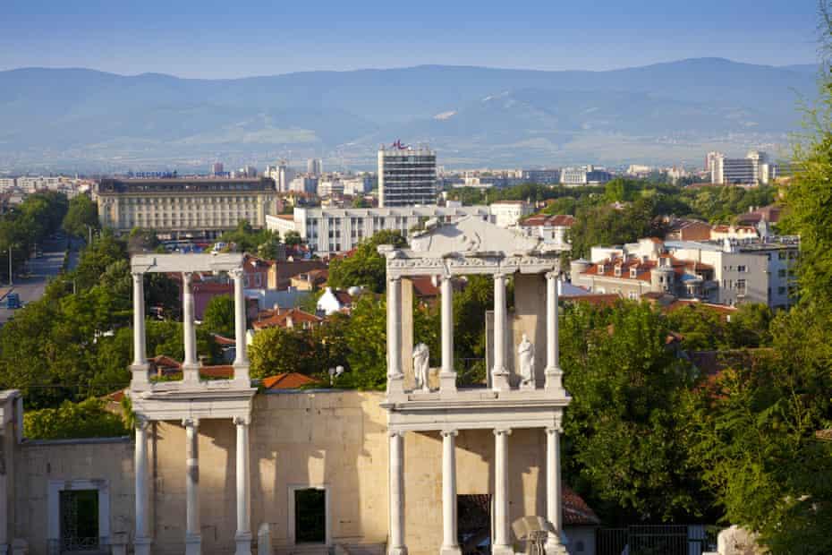 Plovdiv's Roman marble amphitheatre.