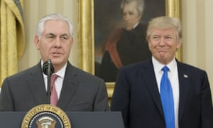 Rex Tillerson with Donald Trump, February 2017