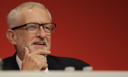 Jeremy Corbyn at the Labour party conference, September 2019.