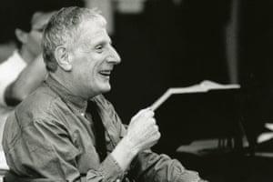 Sir Jonathan Miller during a rehearsal at the Royal Opera House