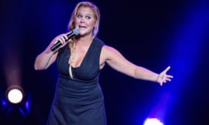 Where she's happiest … Amy Schumer performing live.