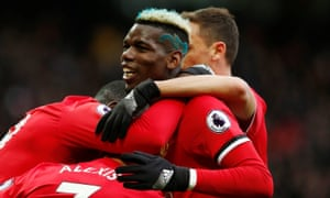 Paul Pogba was all smiles after returning to the Manchester United starting XI against Swansea.