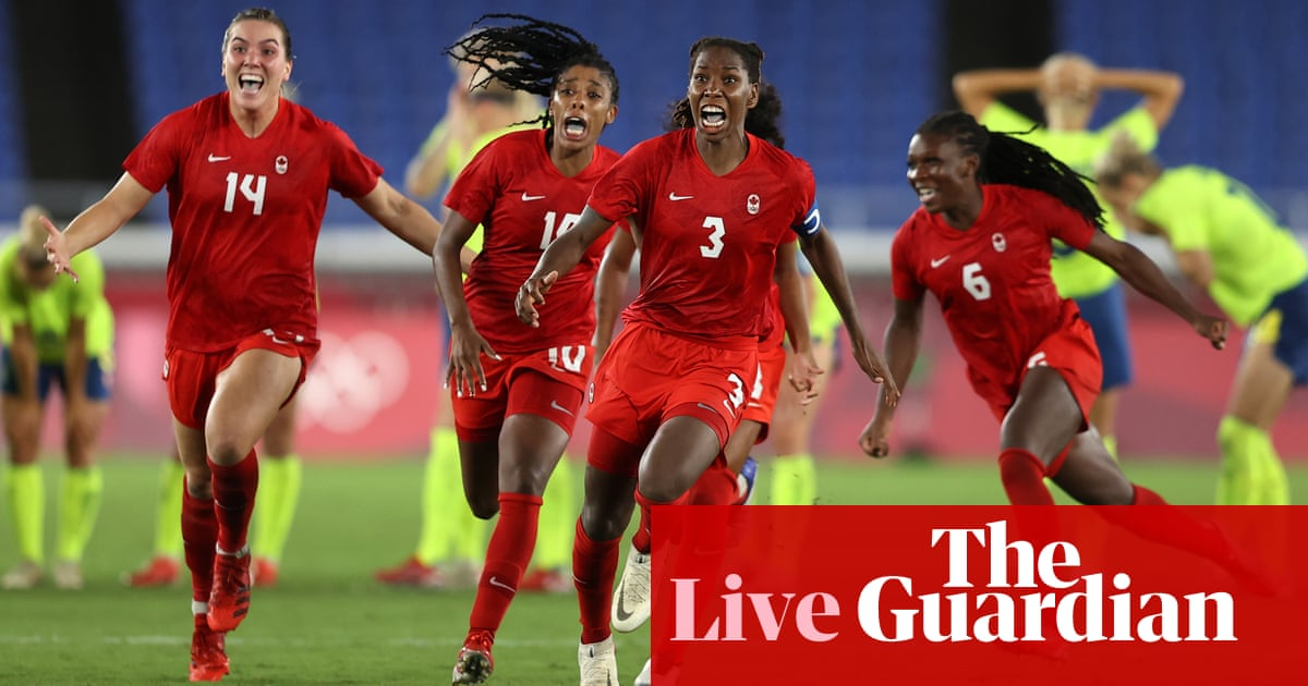 Tokyo 2020 Olympics: women's football glory for Canada, GB golds and more – live!