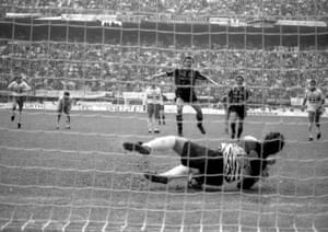 Pagliuca saves the penalty from Matthaus.