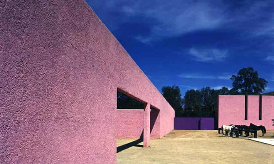 Interior view of the house and studio of Mexican architec Luis Barragan