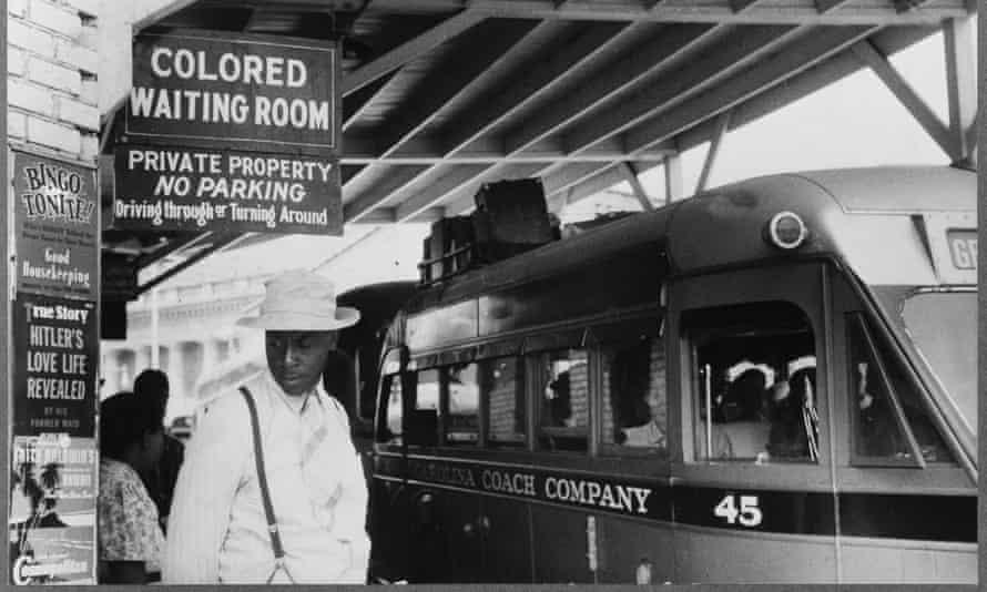 The Jim Crow signs of racial segregation in, Durham, North Carolina, May 1940.