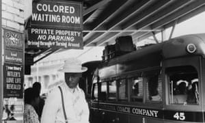A North Carolina bus station in 1940.