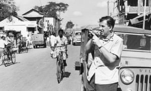 Stuart Heydinger at work in the Himalayan town of Tezpur, India, during the border conflict between India and China in 1962