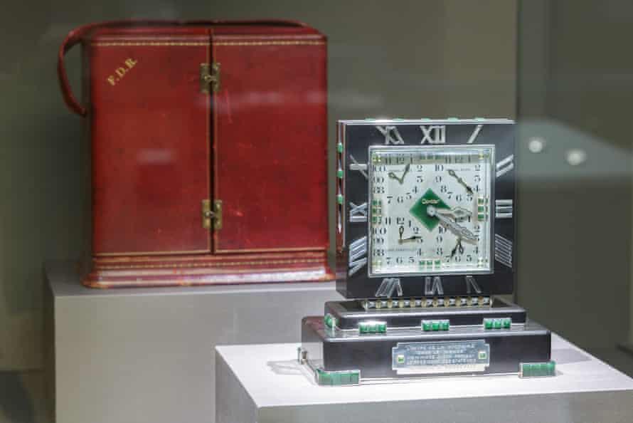 A Cartier clock presented to Franklin D Roosevelt