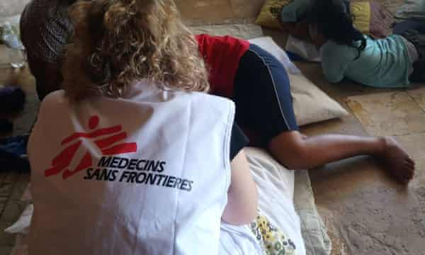 A patient is attended by a Medecins Sans Frontieres in Nauru. MSF has since been forced to leave the island.