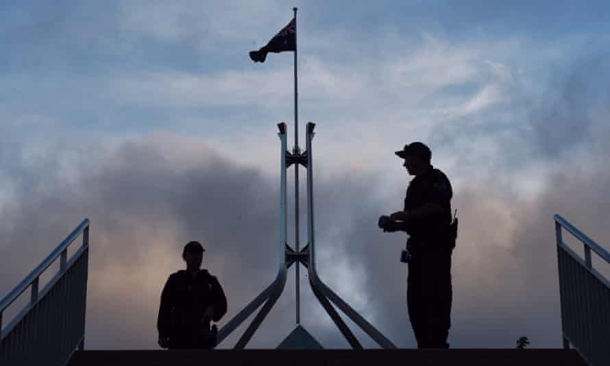 Federal police officers at Parliament House