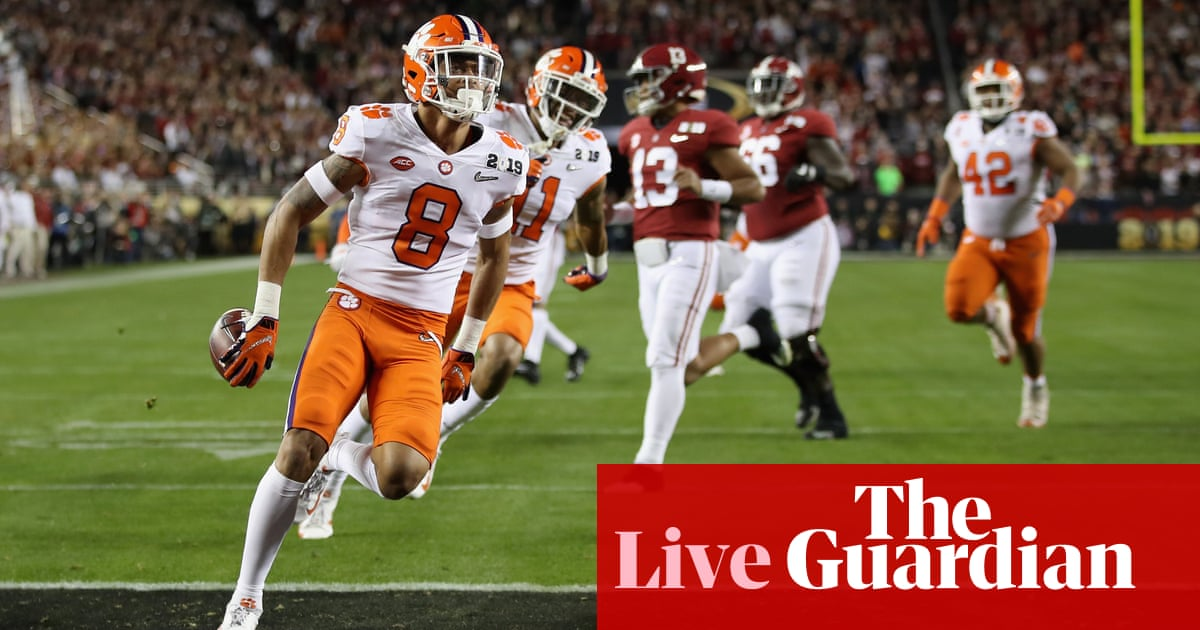 Alabama 16-44 Clemson: College Football Playoff national championship – as  it happened | Sport | The Guardian