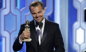 Leonardo DiCaprio and his 2016 Golden Globe.