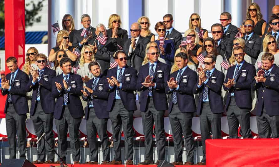 The USA team applaud Arnold Palmer.