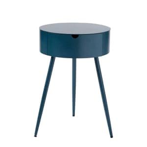 Petrol blue bedside table