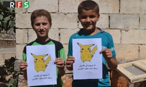 One of the image tweeted with the #PokemoninSyria hashtag by the Revolutionary Forces of Syria Media Office.