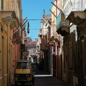 Streets in Carloforte, Sardinia