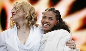 2005: Here's Madonna and Birhan Woldu at Live 8 in Hyde Park