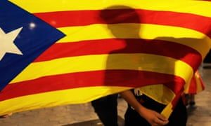Protesters in estelada flags gather