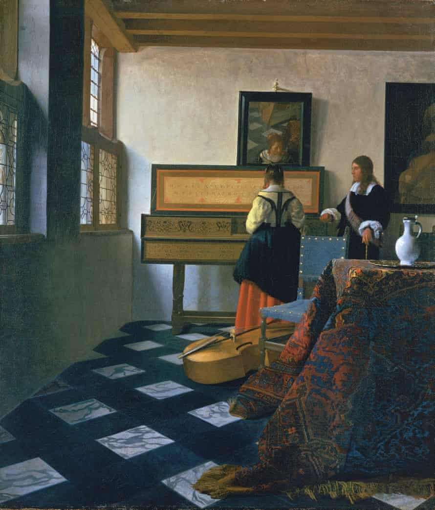 Embraced by colour … Johannes Vermeer's A Lady at the Virginals with a Gentleman, early 1660s.