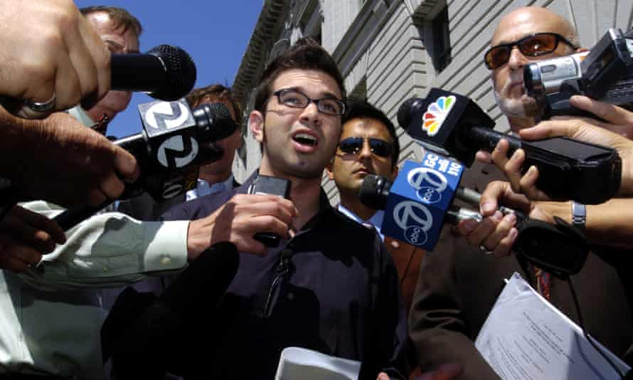 Josh Wolf in federal prison in California in 2006 and 2007 after he refused to hand over video footage of a protest in San Francisco to authorities.