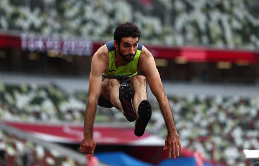 Orkhan Aslanov jumping his way to another gold for Azerbaijan.