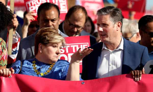Emily Thornberry and Keir Starmer were sidelined from Labour's campaigning.