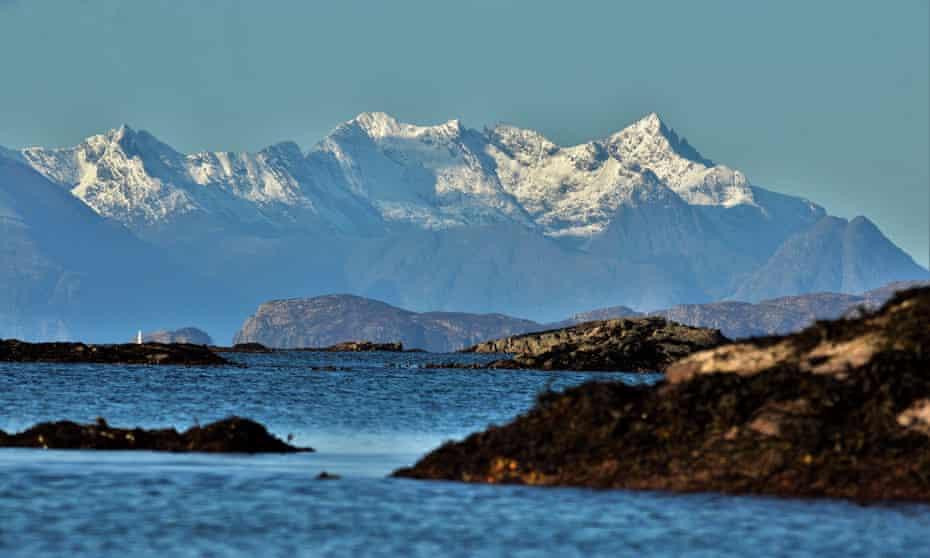 Mountains on Skye seen across the water