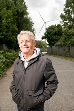 Mark Pepper, of Ambition Lawrence Weston, near the site where they plan to build a wind turbine for the community.