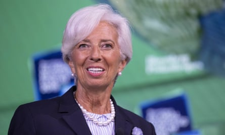 Christine Lagarde, Mario Draghi's replacement as president of the European Central Bank