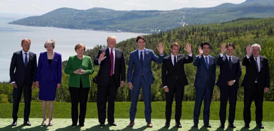 G7 leaders in La Malbaie.
