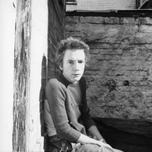 Late 1975. Portrait of Johnny Rotten by Peter ChristophersonPeter Christopherson, whose workspace was adjacent to the Sex Pistols rehearsal space, was a member of the Hipgnosis design collective, and went on to become a member of industrial bands Throbbing Gristle, Psychic TV and Coil