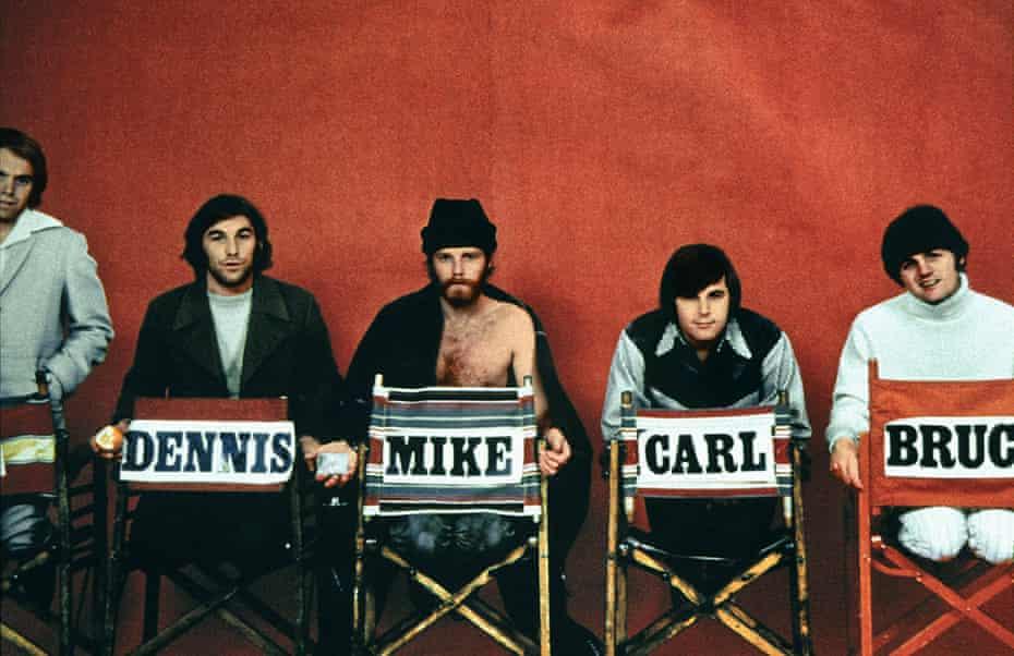 The Beach Boys in 1968, Al Jardine far left.
